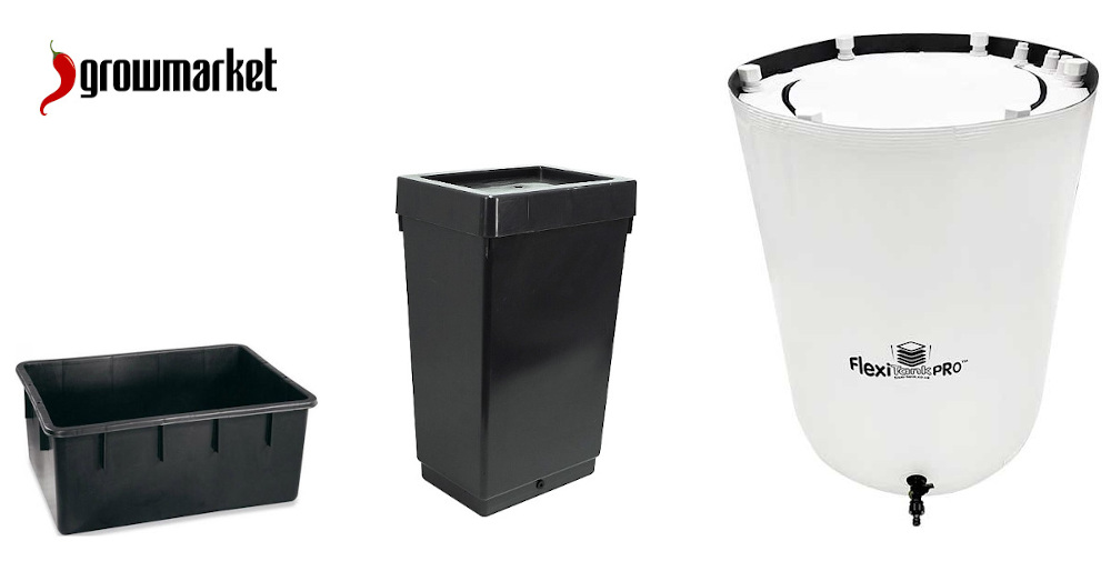 Flexibilní a pevné plastové nádrže na vodu, zálivku, živný roztok, dešťovku