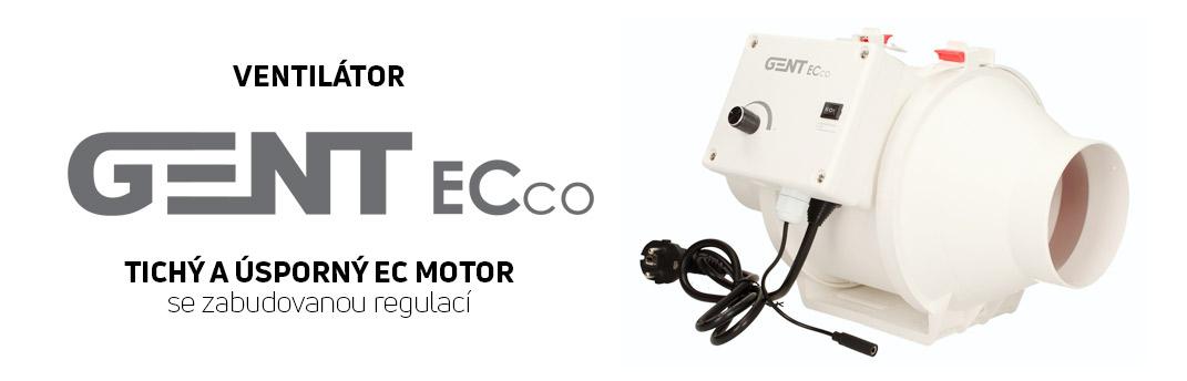Nový GENT ventilátor s EC motorem