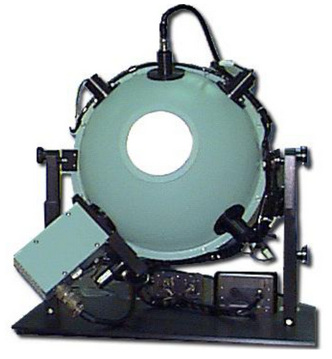 Integrační sféra na měření světelných metrik