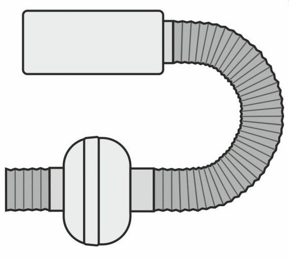 Ventilátor, pachový filtr, ventilační potrubí