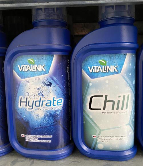 Vitalink Chill na horko, Vitalink Hydrate na sucho.
