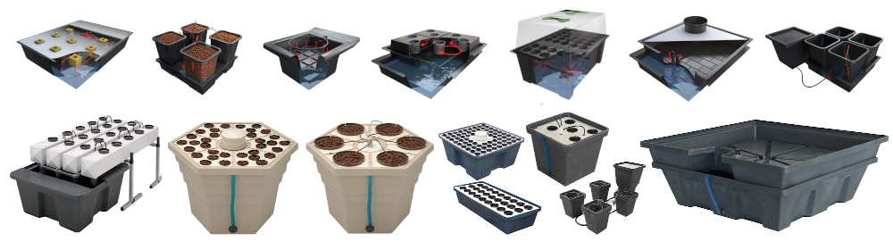 Pěstební systémy hydroponie, aeroponie