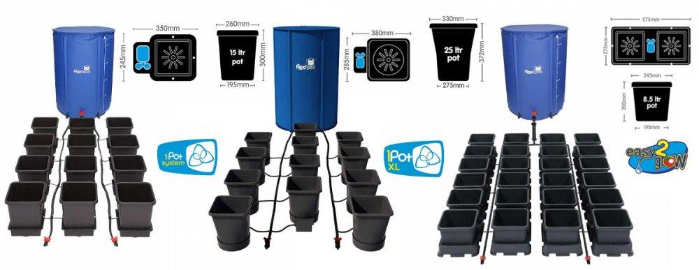 Autopot, samozavlažovací květináče 1Pot, 1Pot XL, Easy2Grow na pěstování bylinek v jakémkoliv substrátu.