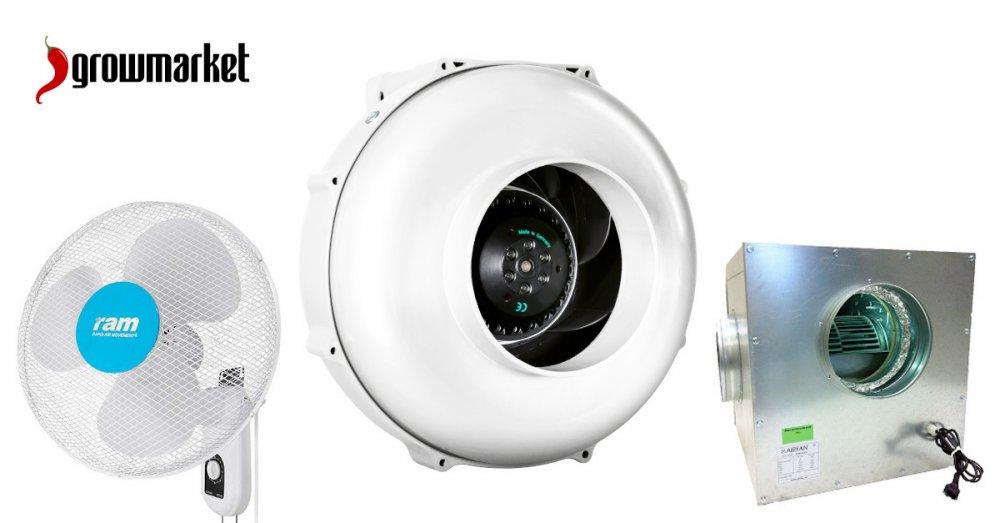 Ventilátory axiální, radiální, potrubní, odhlučněné, neodhlučněné, cirkulační