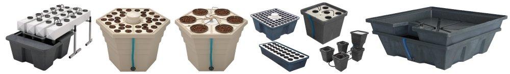 Zavlažovací systémy pro hydroponické pěstování od General Hydroponics.